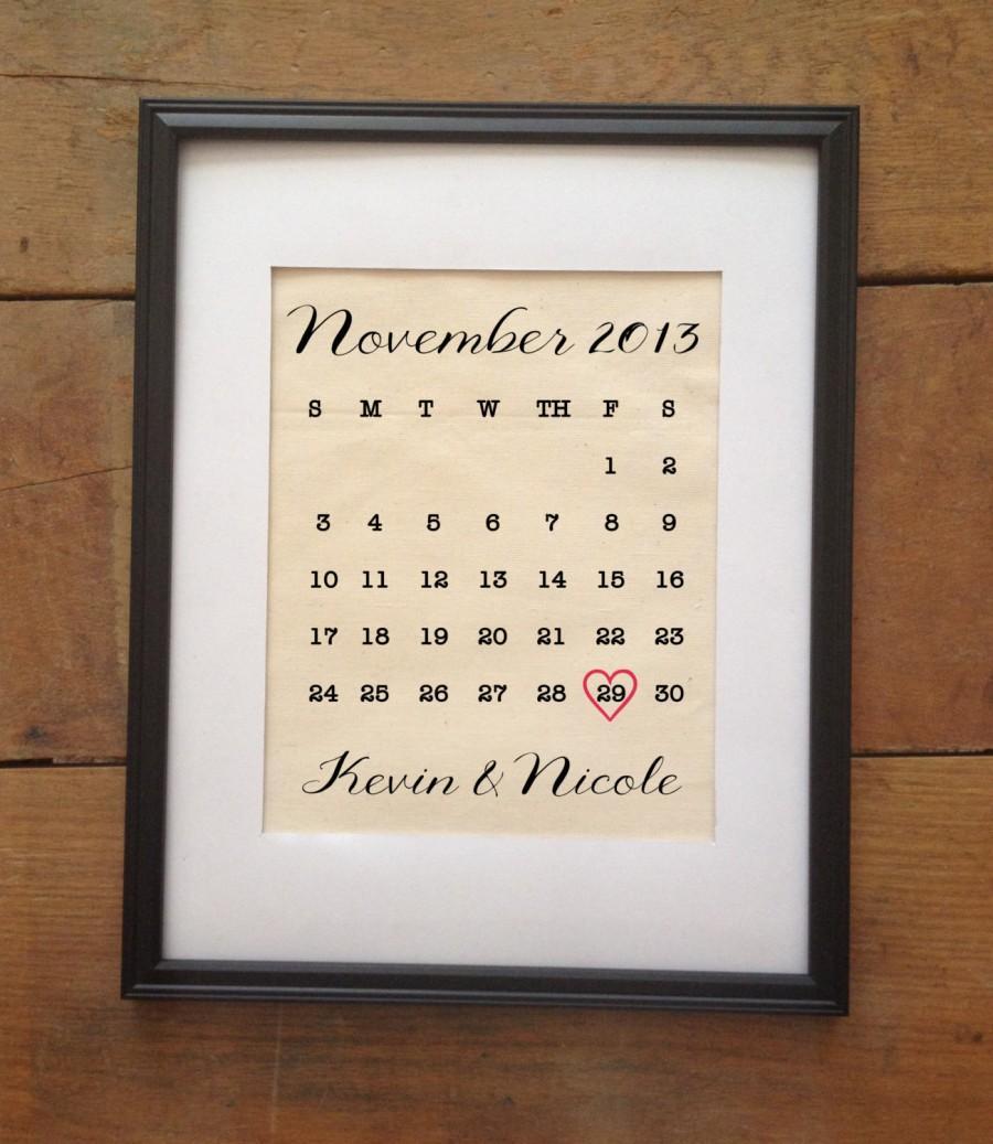 زفاف - Wedding Calendar Cotton Print
