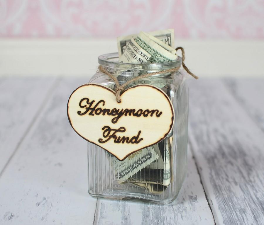 """Mariage - Rustic Wedding """"Honeymoon Fund"""" Sign  for Your Rustic, Country, Shabby Chic Wedding,  Bridal Shower, or Bachelor/Bachelorette Party"""