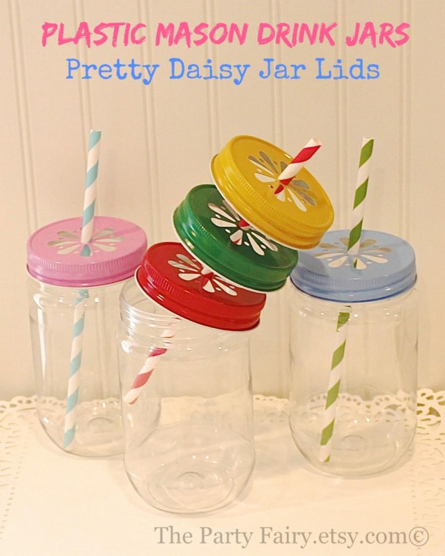 plastic mason jars 100 plastic mason jars with lids mason jar cups