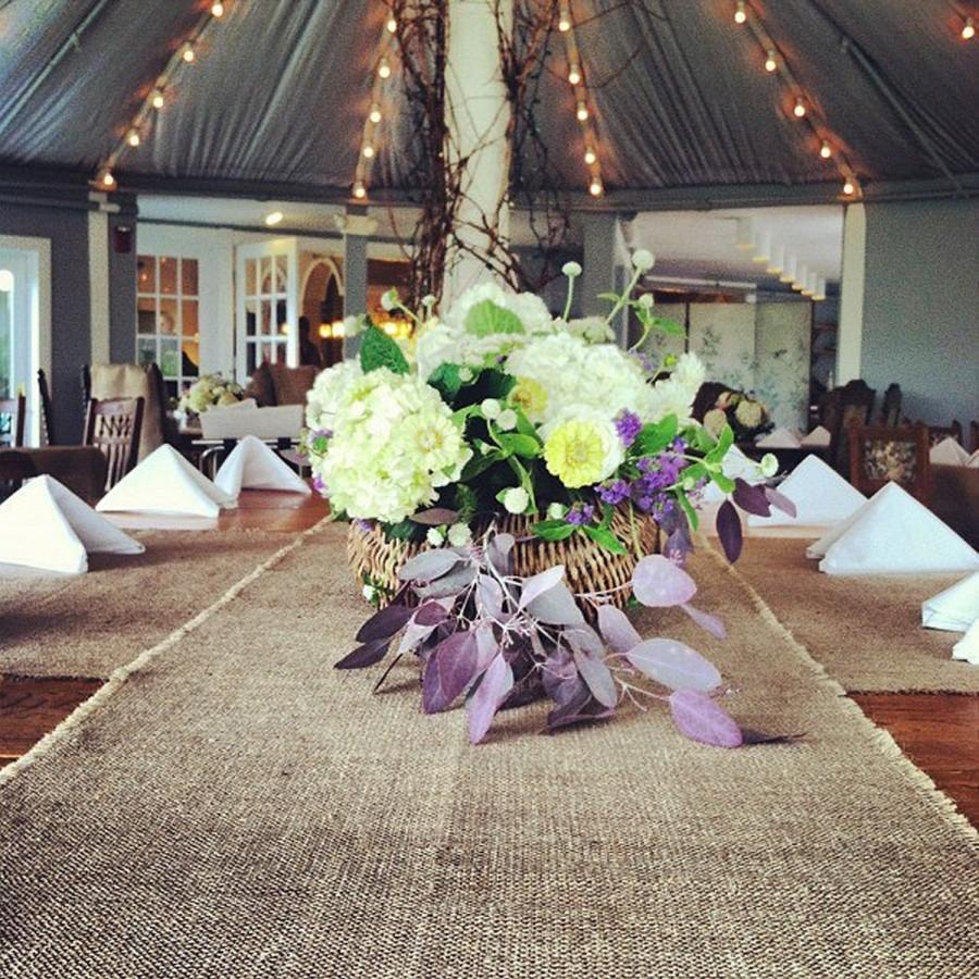Burlap table runner 144 long select your width rustic wedding burlap table runner 144 long select your width rustic wedding decoration reception decor barn wedding custom size available junglespirit Images