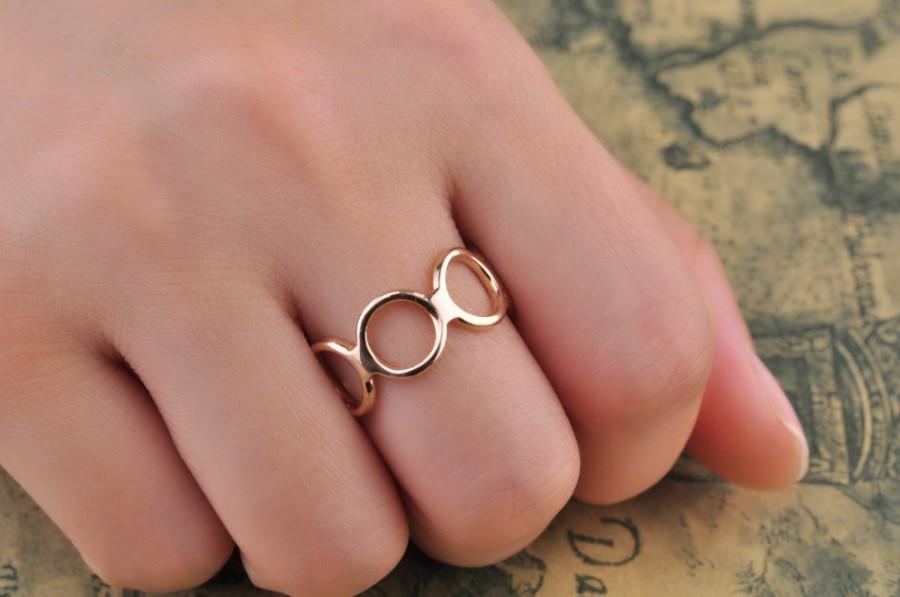 "Hochzeit - Precious~~~ 14k rose gold ring/Open ring /""Open circle ring"" Open gold ring/ 8mm width/Anniversary jewelry/Birthday/Wedding jewelry"