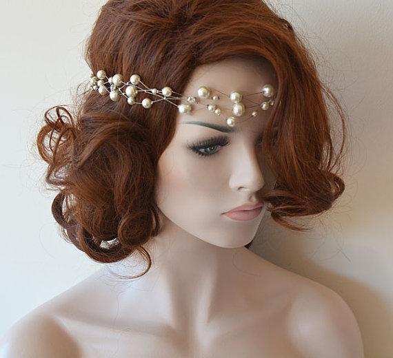 Hochzeit - Wedding Headband, Bridal Pearl Headband, Pearl Headpieces, Pearl Headbands, / Bridal Hair Accessories, Wedding Hair Accessories