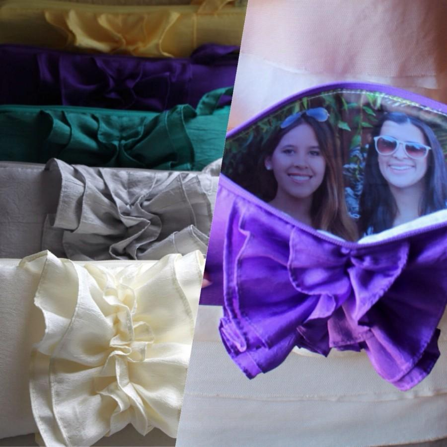 Mariage - 5 Photo Purses- Custom With Your Favorite Pictures- Bridesmaids Photo Gift
