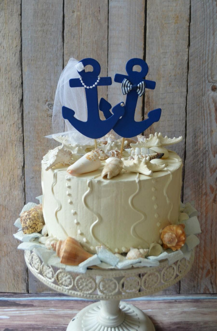 Anchors Away Wedding Cake Topper Anchors Boat Wedding Cake Topper