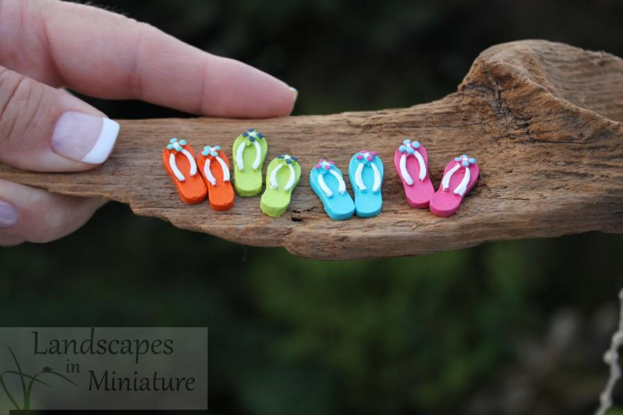 f026f18e2 Miniature FLIP FLOPS with FLOWERS for your Miniature Beach Vacation or  Wedding Cake Topper - by Landscapes In Miniature