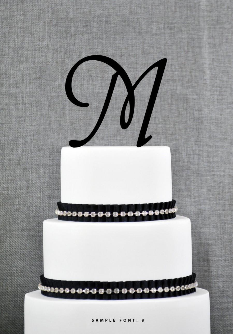 Letter M - Initial Cake Topper, Monogram Wedding Cake ...