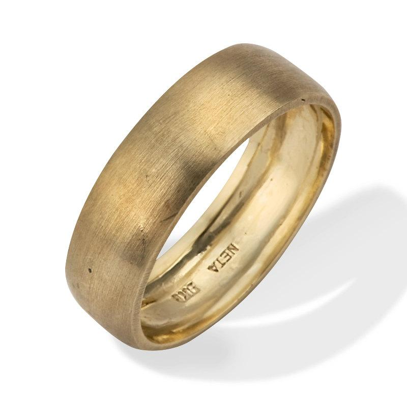 men39s wedding band classic brushed matte 18k gold men39s With mens matte gold wedding ring