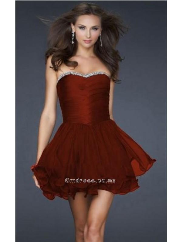 Wedding - A line Sweetheart Chiffon Homecoming DressesSKU: HD00134