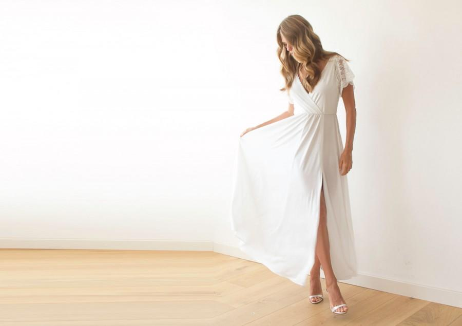 Simple Wrap Wedding Dress