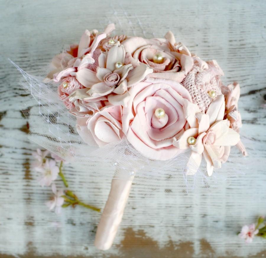 Small Signature Blush Ombre Pink Handmade Alternative Bouquet