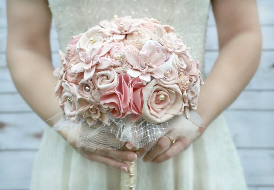 Original Blush Ombre Handmade Heirloom Bride\'s Wedding Bouquet ...