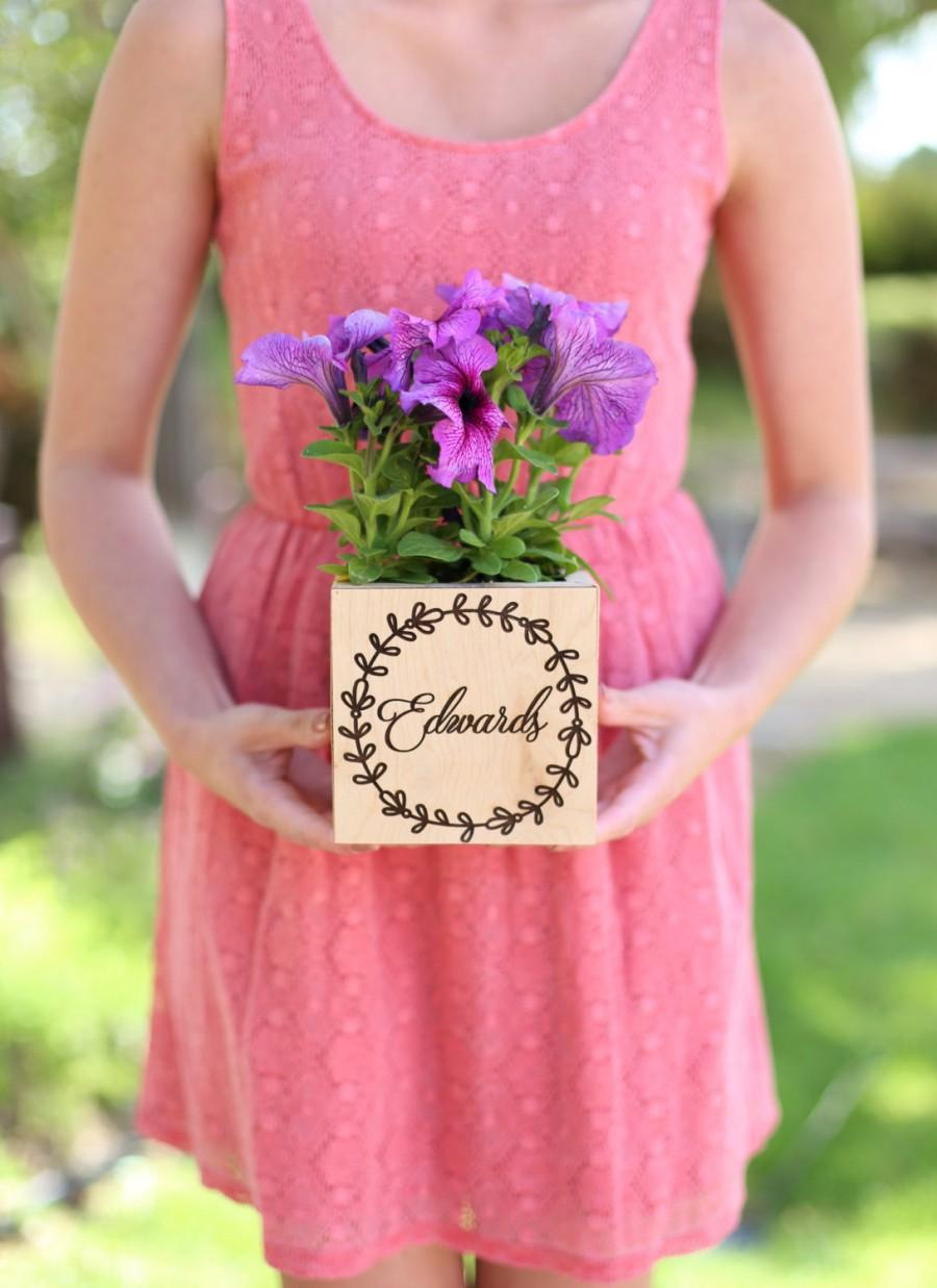 Mariage - Personalized Rustic Wedding Planter Box Bridal Shower Gift (Item Number MMHDSR10063)