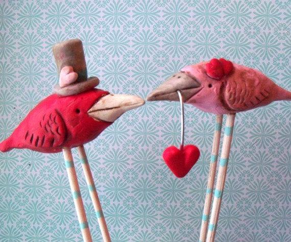 Mariage - Love Birds wedding cake topper