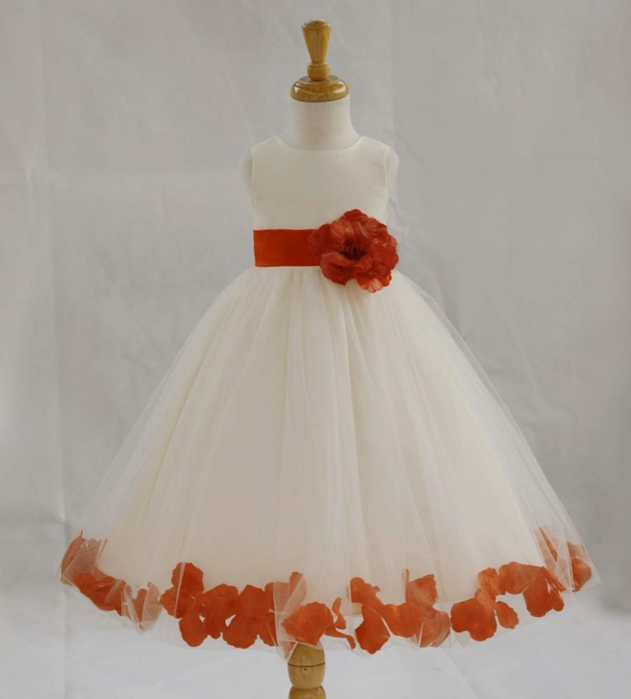 Ivory Orange Pictured Flower Girl Dress Pageant Wedding Bridal Children Bridesmaid Toddler Elegant Sizes 6 9m 12m 2 4 6 8 10 12 14 2401749 Weddbook,Macy Dresses For Wedding