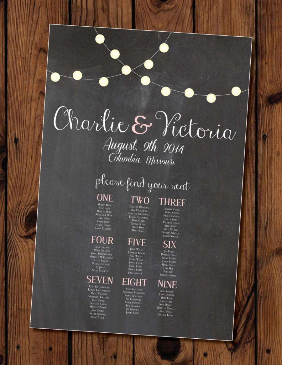 Chalkboard Wedding Seating Chart Printable #2401801 - Weddbook