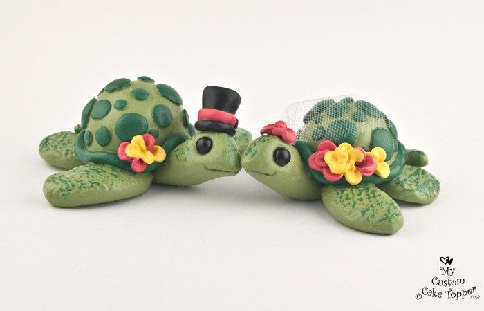 زفاف - Love Turtles Custom Wedding Cake Topper