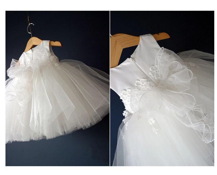 791bb202d Off White Christening Dress, Baptism Dress, First Communion Dress, off white  flower girl dress, lace dress, off white dress, bridesmaide