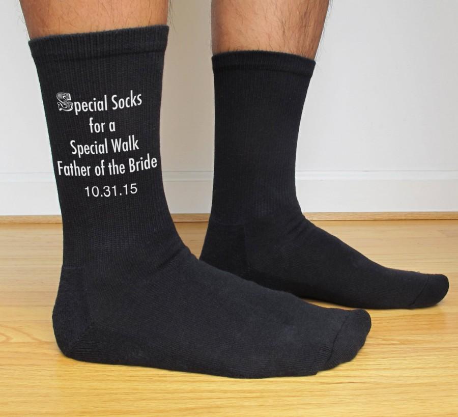 Special Socks For A Special Walk Custom Printed Wedding