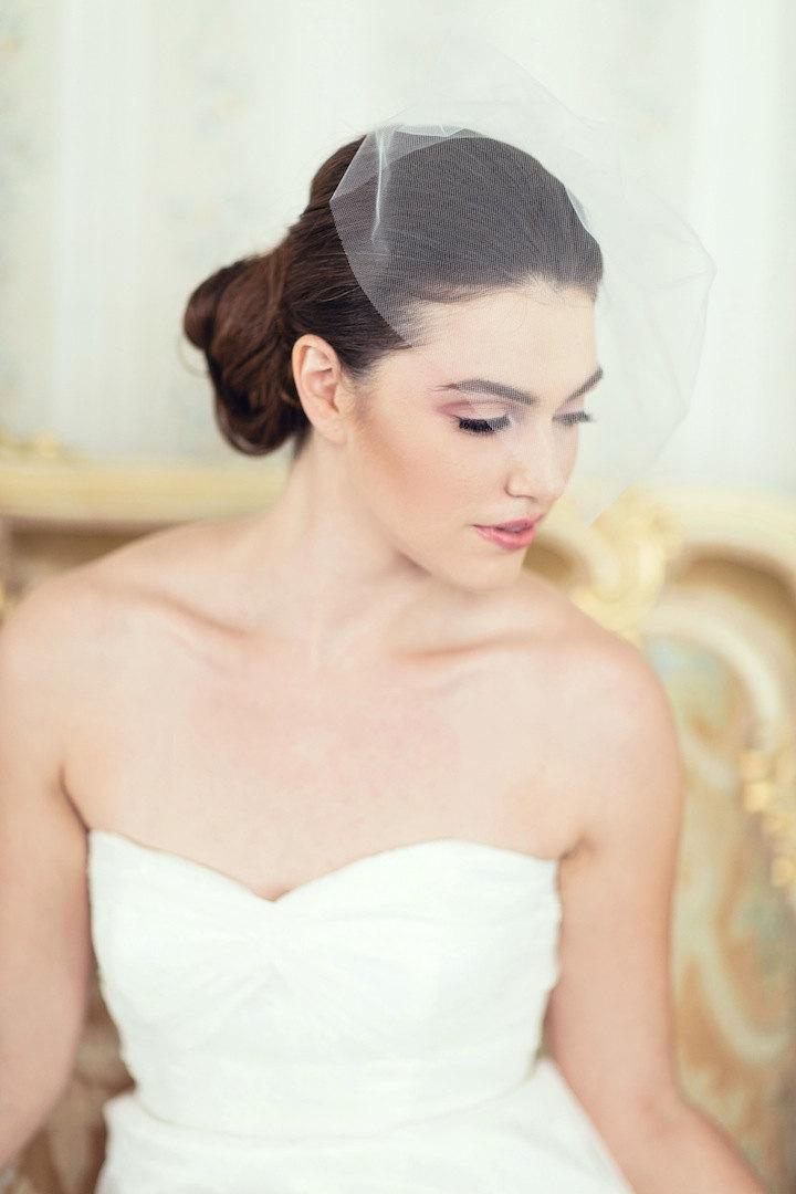 Ready To Wear Bridal Blusher Style Illusion Tulle Birdcage Veil Ship