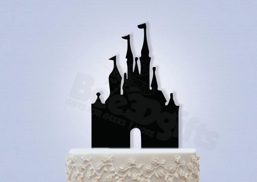 Mariage - Sleeping Beauty' Castle Cake topper