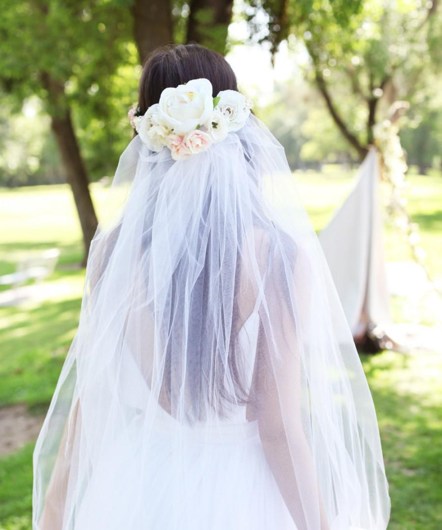 The peony flower crown veil bridal headpiece lace millenary dusty the peony flower crown veil bridal headpiece lace millenary dusty pink floral boho bohemian wedding accessory izmirmasajfo