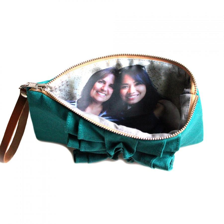 Mariage - Photo Clutch- Rustic Ruffle Clutch- Birthday Gift Idea for Best Friend- Teal Red Purple And More