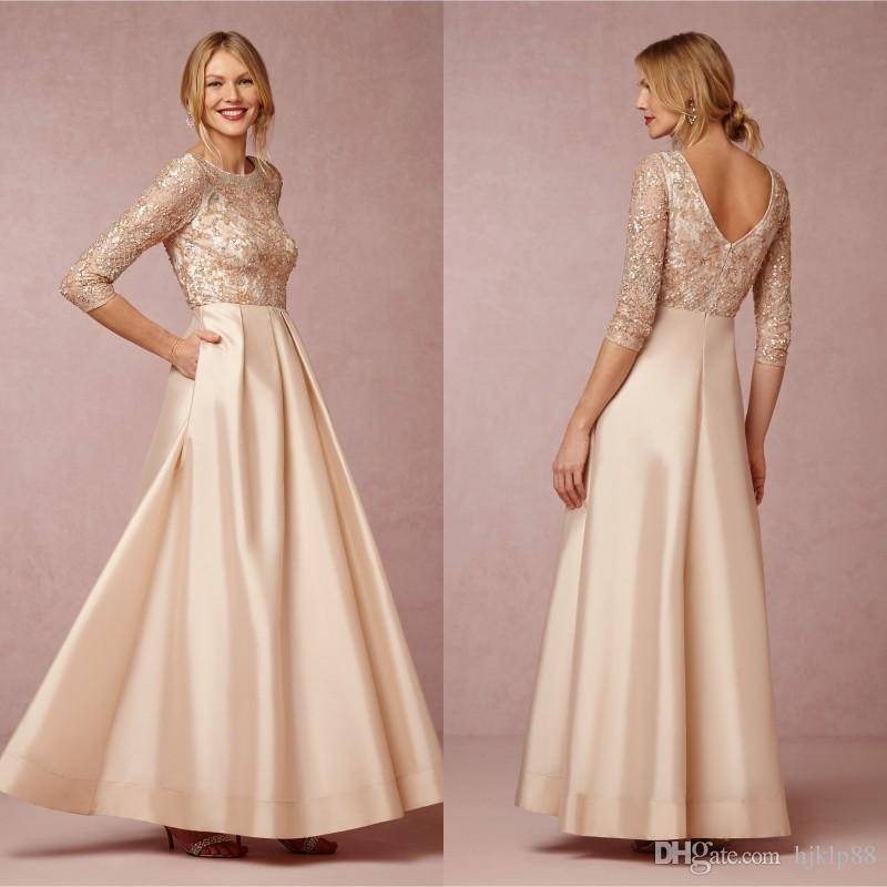 Elegant 3/4 Long Sleeve Mother Of Bride Dresses 2015 Spring Lace ...