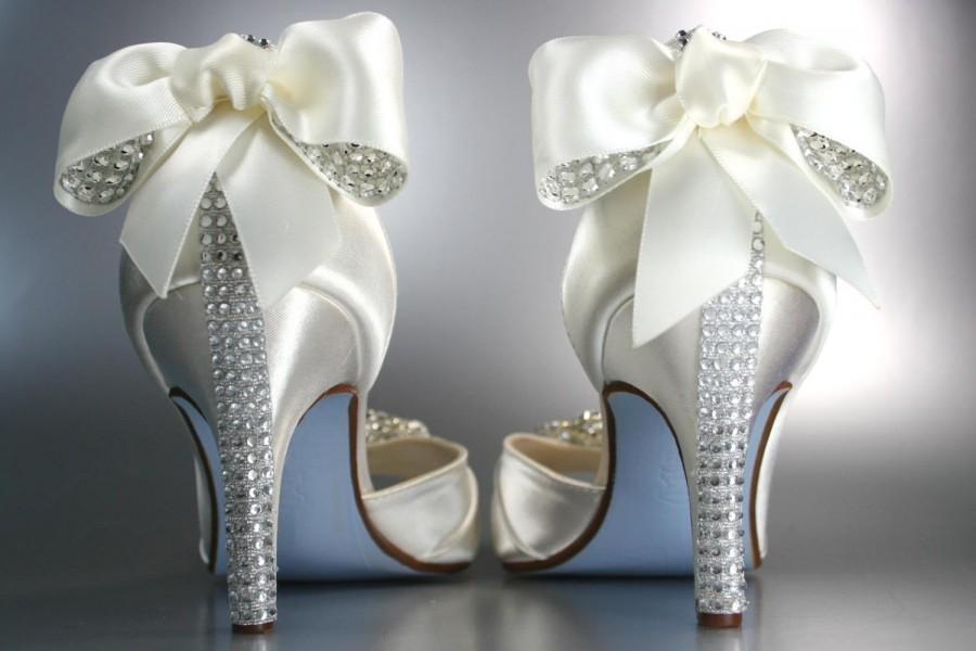 Wedding Shoes Light Ivory Peep Toe Wedding Shoes With
