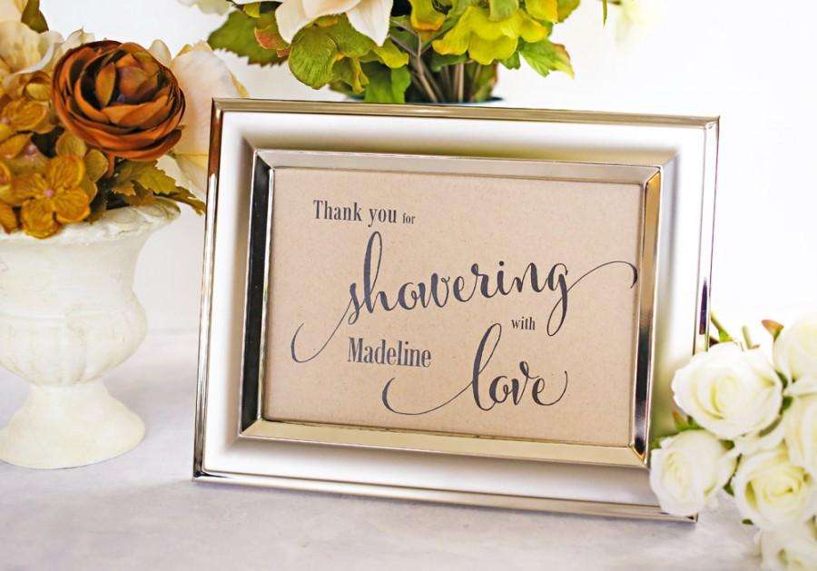Thank You Sign For Wedding Gift Table : Gift Table Ideas For Bridal ShowerWedding Invitation Sample