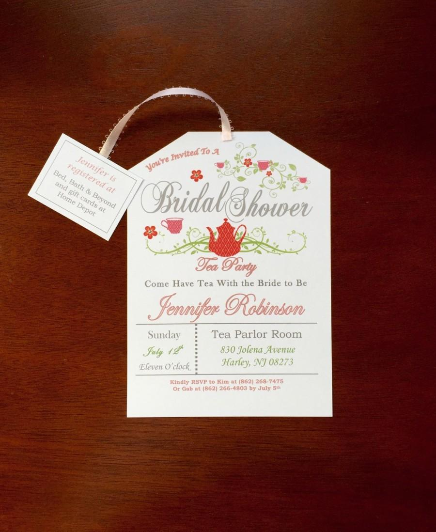 Mariage - Tea Party Bridal Shower Invitation (style#2)