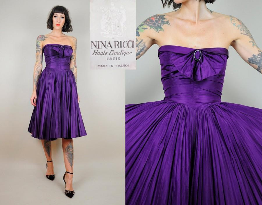 Hochzeit - NINA RICCI Haute Boutique Silk Dress