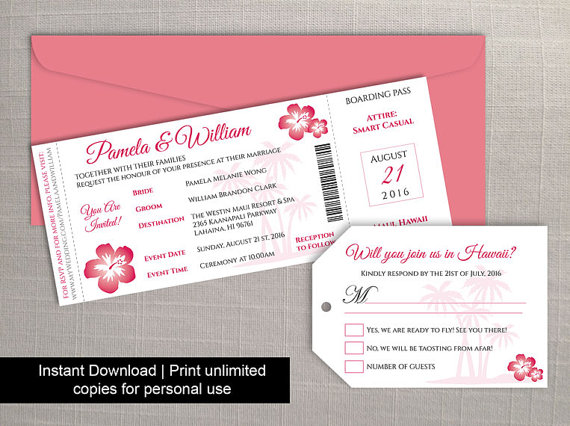 graphic regarding Printable Boarding Pass named Do-it-yourself Printable Wedding ceremony Boarding P Baggage Tag Template