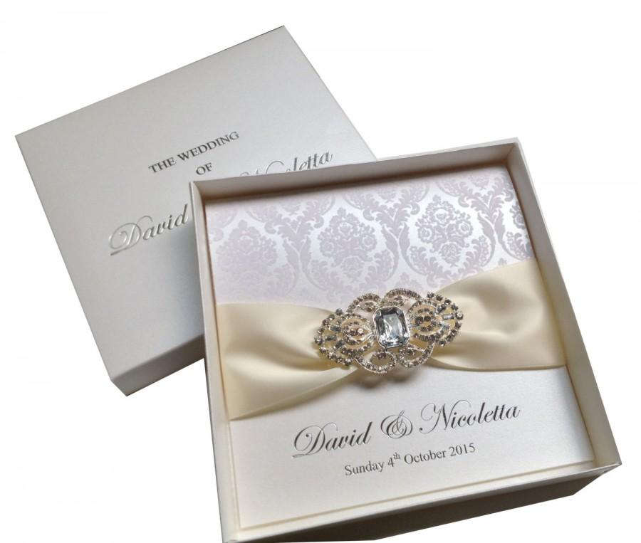 Luxury wedding invitations flocked invitations boxed for Luxury wedding invitations dubai