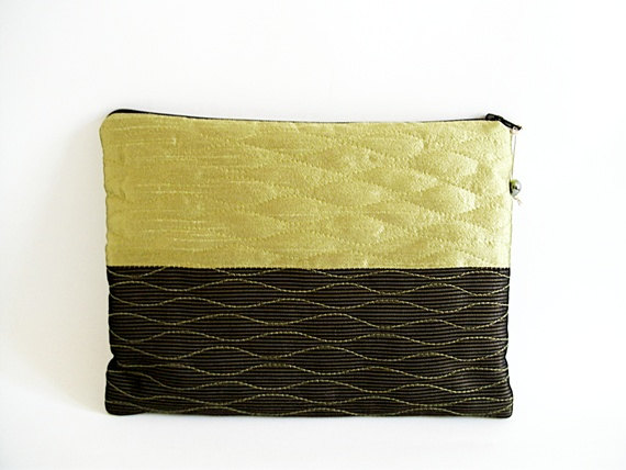 Mariage - Chartreuse Wedding Clutch, Geometric Clutch, Lime Green Wallet, Black Green Color Block Bag