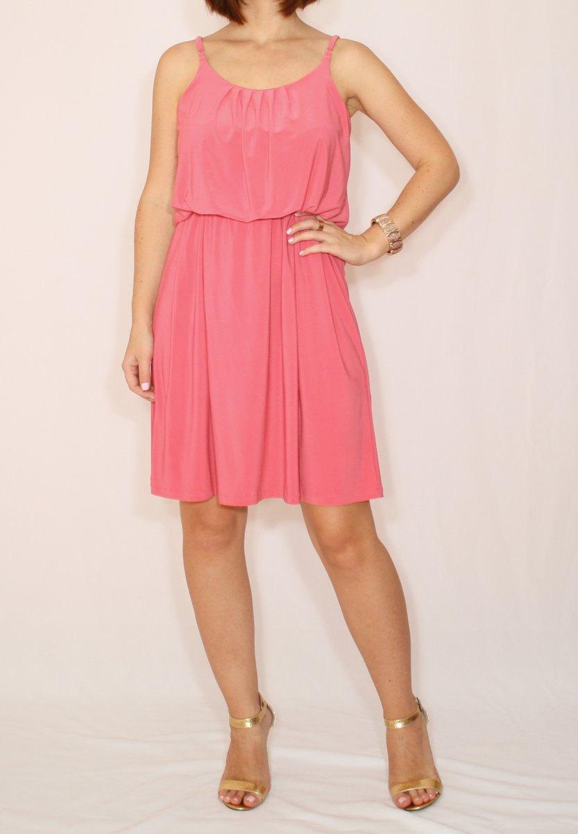 زفاف - Coral pink dress Coral bridesmaid dress Short dress Party dress