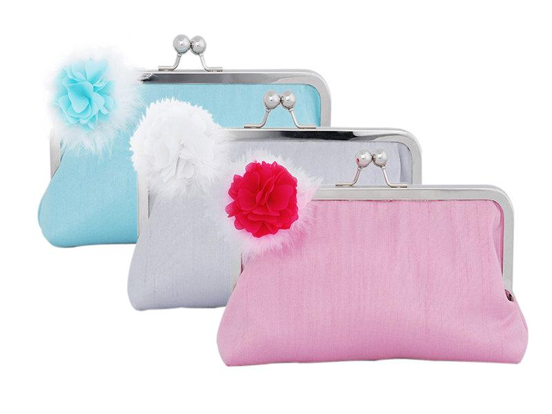 Mariage - Wedding clutch sets with flower brooch/Bridesmaid Gift