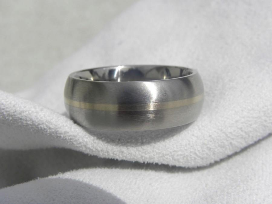 1a43c9fc13b89 Titanium White Gold Ring Or Wedding Band Domed Profile #2403063 ...