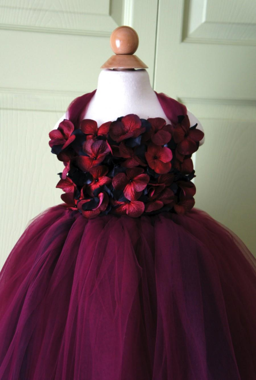 52aeed92bad Flower Girl Dress Red And Black Tutu Dress