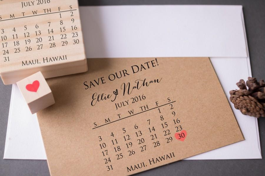 Save the date stamp set diy calendar stamp with heart over your save the date stamp set diy calendar stamp with heart over your date names and location wedding rubber stamp junglespirit Images