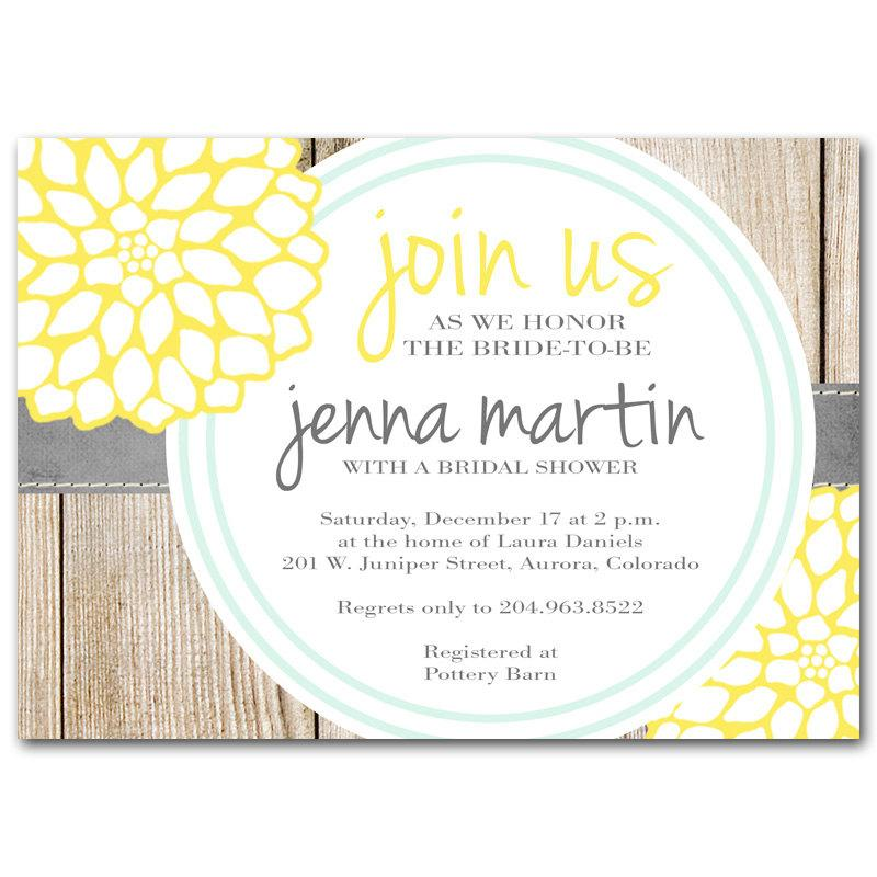 bridal shower invitation yellow and milk bottle blue baby shower invitation printable digital diy