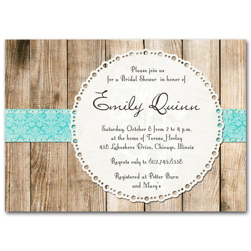 Bridal Shower Invitation Rustic Vintage Gender Neutral Baby Invite Printable Digital Diy Wooden