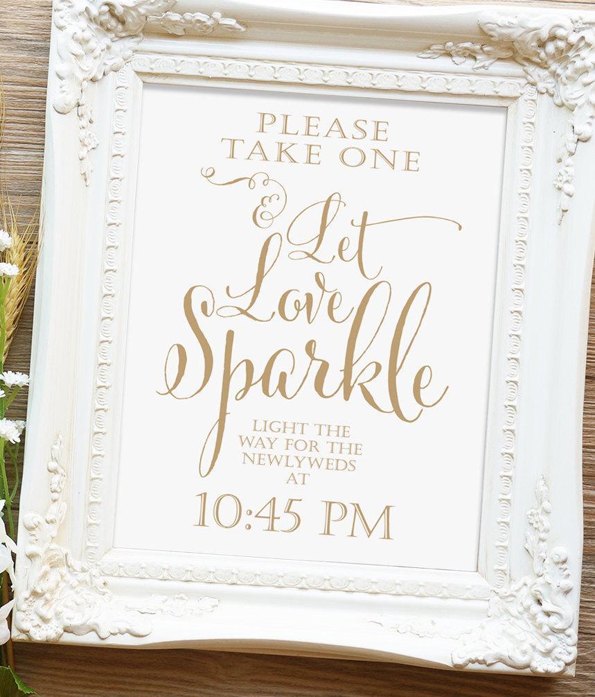 let love sparkle sign 8x10 or 11x14 sign printable sign bella