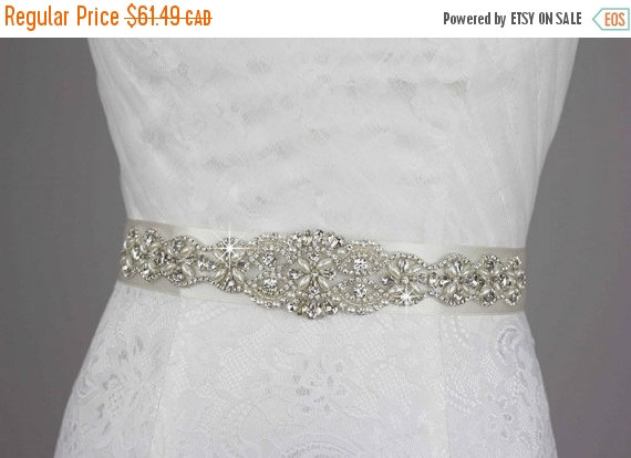Hochzeit - ON SALE Wedding Dress Belt, Bridal Belt Bridal Sash, Wedding Belt Wedding Sash, Wedding Accessories Rhinestone Crystal Pearl Bridesmaid Prom