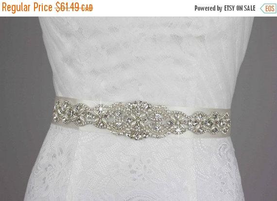 Свадьба - ON SALE Wedding Dress Belt, Bridal Belt Bridal Sash, Wedding Belt Wedding Sash, Wedding Accessories Rhinestone Crystal Pearl Bridesmaid Prom