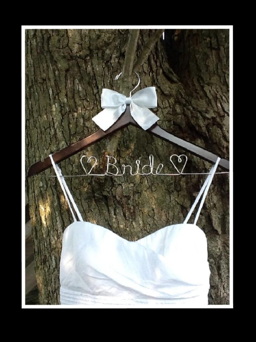 Wedding - HUGE SALE Personalized Custom Bridal Hanger, Brides Hanger, Bride