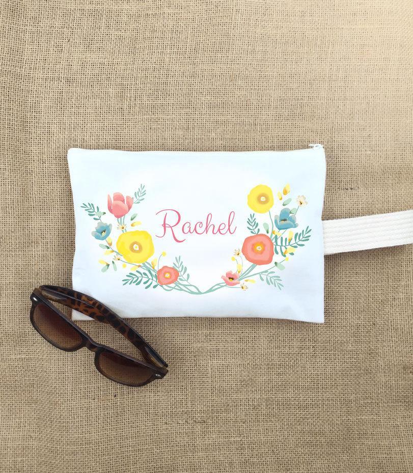 Mariage - make up bag,cosmetic bag, bridesmaid bag,bridesmaid gift bag, personalized bridesmaid gift,monogram make up bag,personalized make up bag,