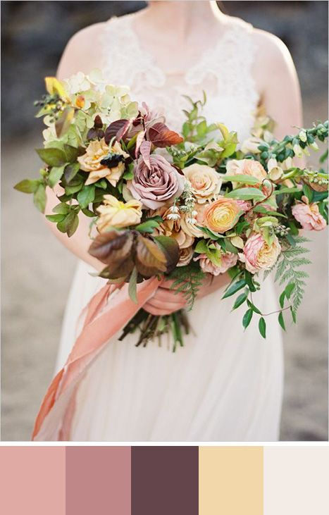 Mariage - 5 Mellow Rose Color Palettes For Your Wedding Day