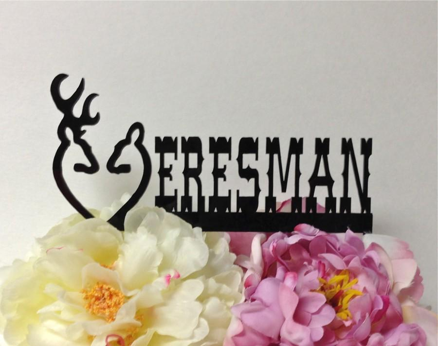 Свадьба - PERSONALIZED Doe and Buck Wedding Cake Topper Country Western Cake Topper Hunter Wedding Cake Topper Wilderness Cake Topper