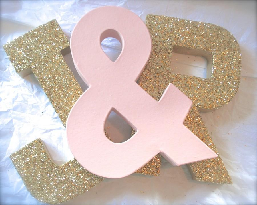Glittered Letters Wedding Decor And Home Self Standing