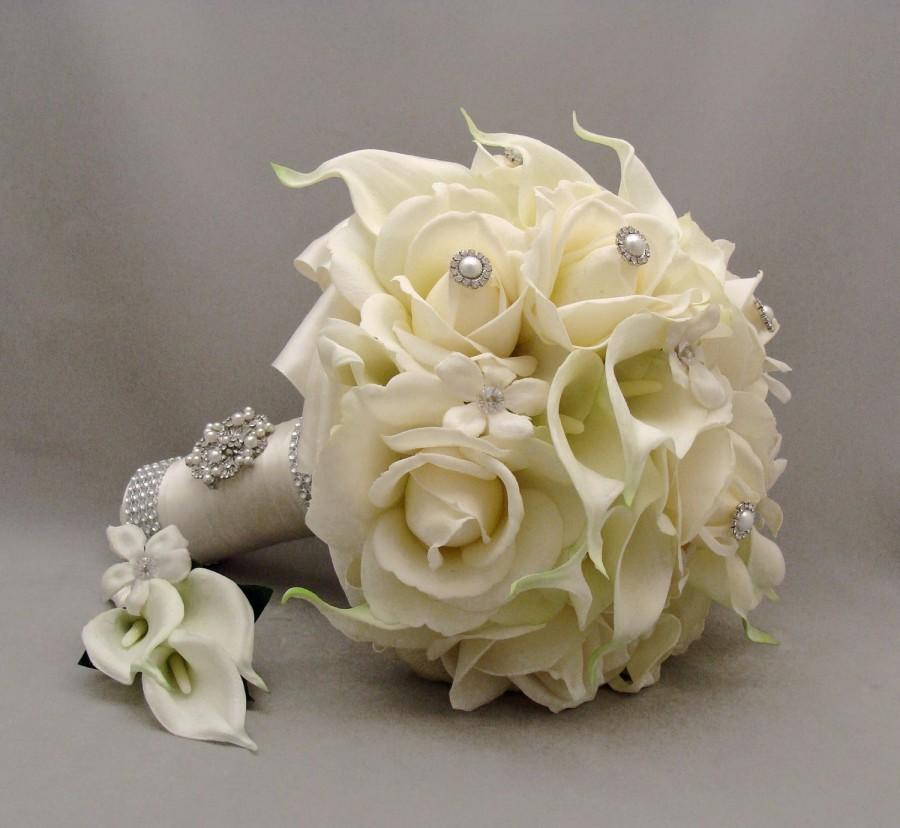 Букеты для невест из живых цветов фото